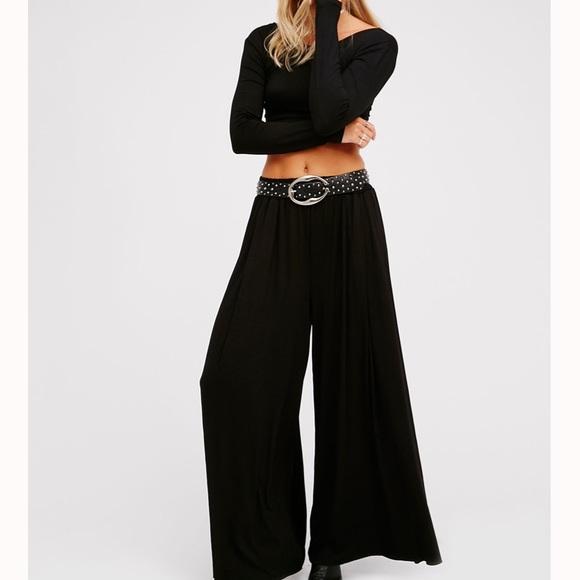 NEW Free People Alia Set Size Small Black Crop Top /& Pants